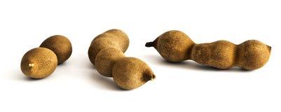 3 сырцовых плодоовощ тамаринда Стоковое Изображение