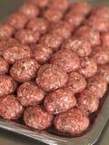 Сырые шарики мяса Стоковое Изображение RF