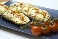 сыр багетов Стоковое Изображение RF