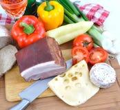 сыр бекона вкусный Стоковые Фотографии RF