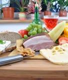 сыр бекона вкусный Стоковое Фото