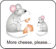 сыр больше угождает Стоковые Изображения RF