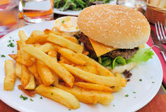 сыр бургера стоковая фотография