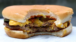 сыр бургера стоковая фотография rf