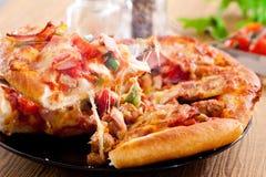 Сыр ветчины пиццы, итальянская еда стоковые изображения