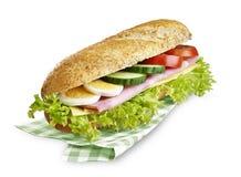 Сыр ветчины сандвича подводной лодки с путем клиппирования Стоковые Изображения RF