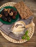 сыр датирует французские грецкие орехи Стоковое фото RF