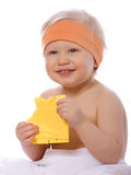 сыр ест сандвич девушки Стоковая Фотография