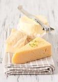 Сыр и масло. стоковые фото