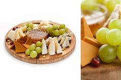 Сыр и плодоовощ Стоковая Фотография
