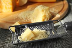 Сыр и терка Стоковые Фотографии RF