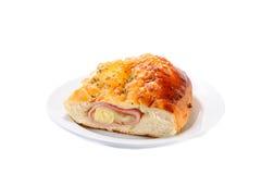 Сыр и хлеб ветчины Стоковые Изображения