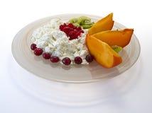Сыр коттеджа с плодоовощ Стоковое фото RF