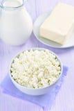 Сыр, молоко и масло творога Стоковые Изображения RF