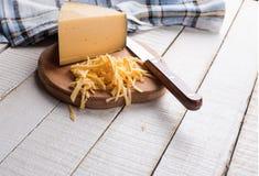 Сыр на борту Стоковое Изображение