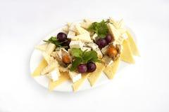 Сыр на диске Стоковая Фотография