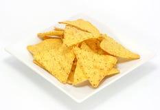 сыр откалывает nachos Стоковые Изображения