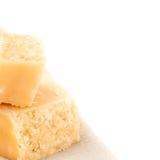 Сыр пармесан изолированный на белой предпосылке Стоковая Фотография