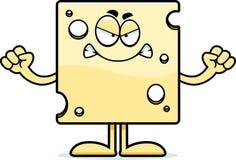 Сыр сердитого шаржа швейцарский Стоковая Фотография RF