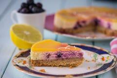 сыр торта домодельный Стоковые Изображения RF