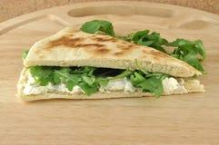 сыр торта arugula мягкий Стоковое Изображение