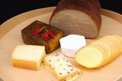 сыр хлеба различный Стоковая Фотография