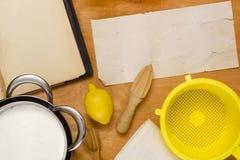 Сыр Mascarpone варя дома Стоковая Фотография RF