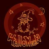 Сыч хеллоуина Стоковые Изображения