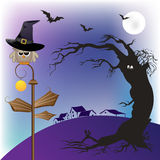 сыч halloween Иллюстрация штока