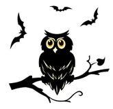 сыч halloween иллюстрация вектора