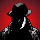 Сыщик злодеяния иллюстрация вектора
