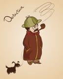 Сыщик с собакой Стоковое Изображение