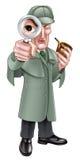 Сыщик Sherlock Holmes шаржа Стоковое фото RF