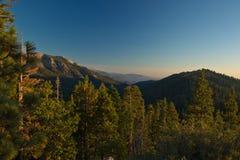 Сьерра заход солнца ряда Невады горы ландшафта Стоковые Изображения