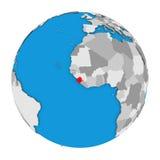 Сьерра-Леоне на глобусе иллюстрация вектора