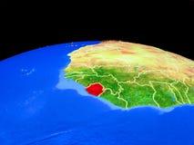 Сьерра-Леоне от космоса на земле бесплатная иллюстрация