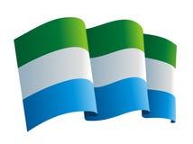 Сьерра leone флага иллюстрация вектора