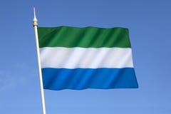Сьерра leone флага Стоковые Фотографии RF