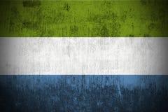 Сьерра leone grunge флага Стоковое Изображение