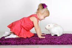Сь маленькая девочка Стоковое Изображение