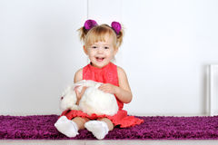 Сь маленькая девочка Стоковое фото RF