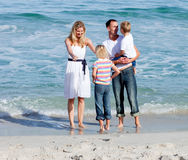 Сь родители с их дет Стоковое Изображение RF