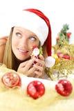 Сь счастливое Santa Claus Стоковая Фотография