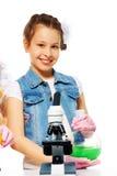 Сь тип девушки и химии Стоковая Фотография