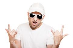 Сь gesturing человека Стоковое Фото