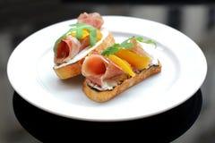 сэндвич с ветчиной сыра близкий вверх Стоковое Изображение