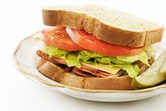 сэндвич с ветчиной сыра вкусный Стоковое Фото