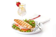 сэндвич с ветчиной сыра Стоковое Изображение