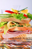 сэндвич с ветчиной сыра Стоковые Изображения RF