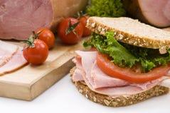сэндвич с ветчиной Стоковая Фотография
